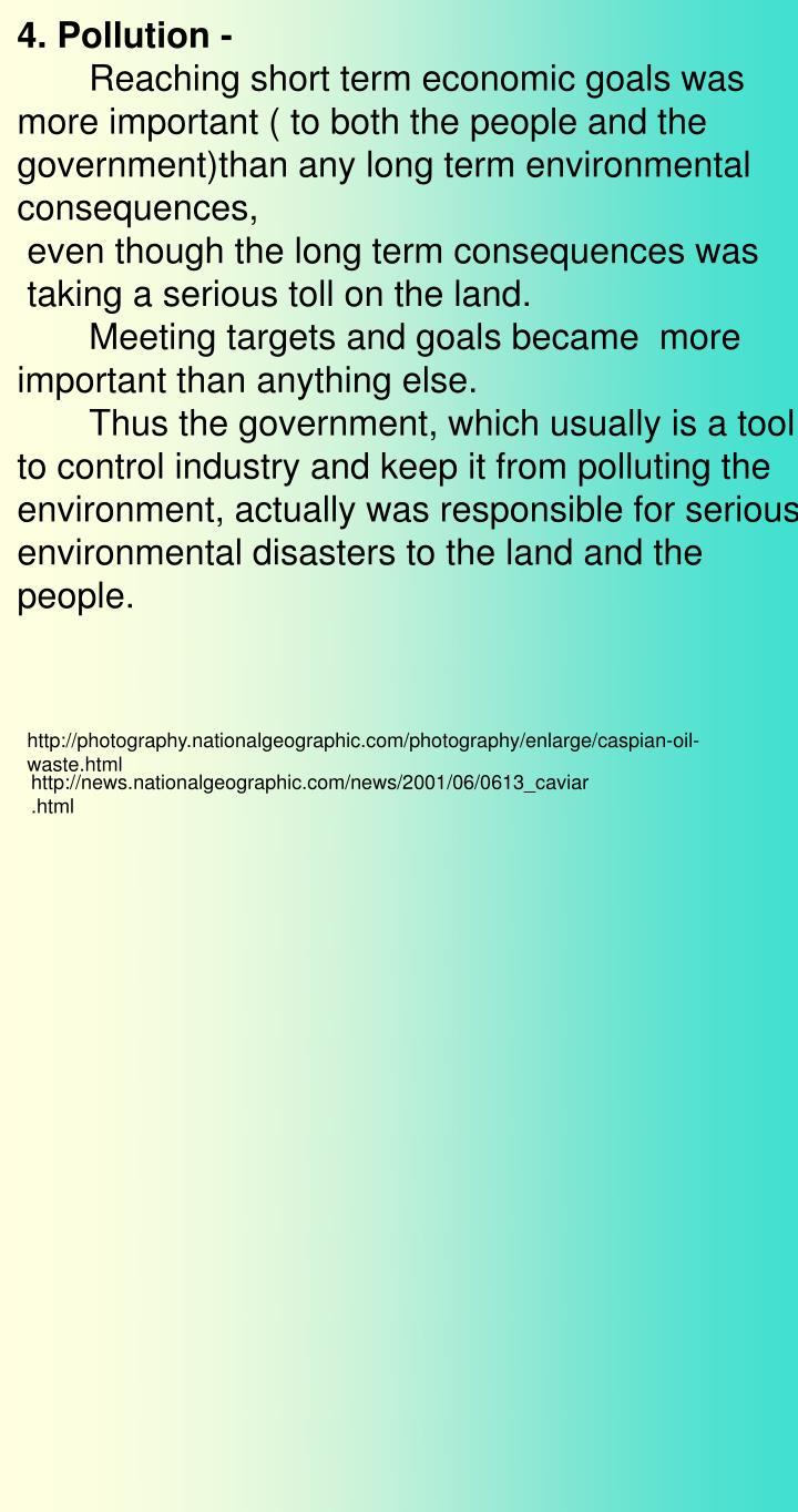 4. Pollution -