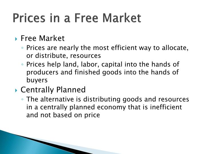Prices in a Free Market