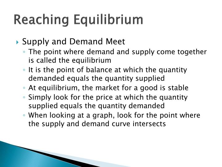 Reaching Equilibrium