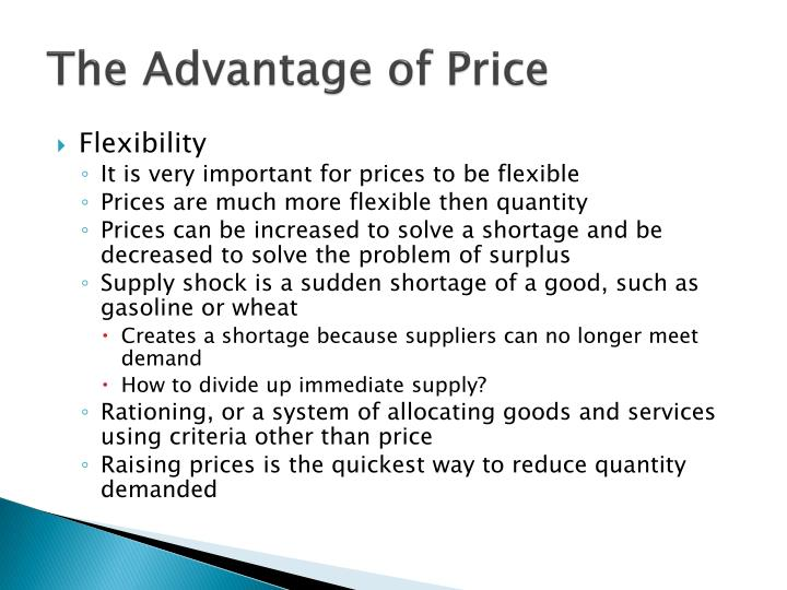 The Advantage of Price