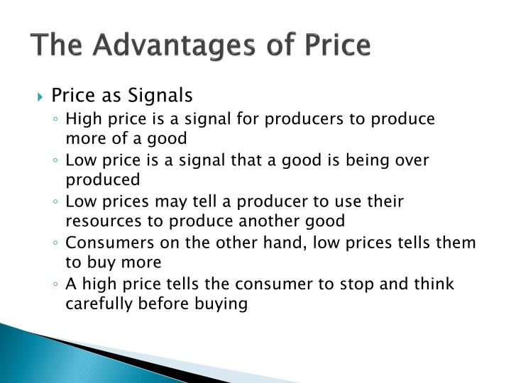 The Advantages of Price