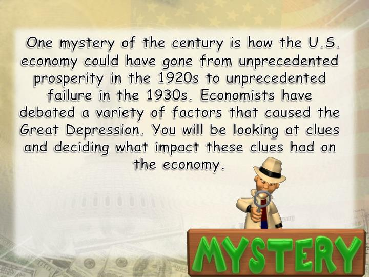 One mystery of the century is how the U.S. economy could have gone from unprecedented prosperity in ...