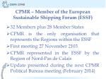 cpmr member of the european sustainable shipping forum essf
