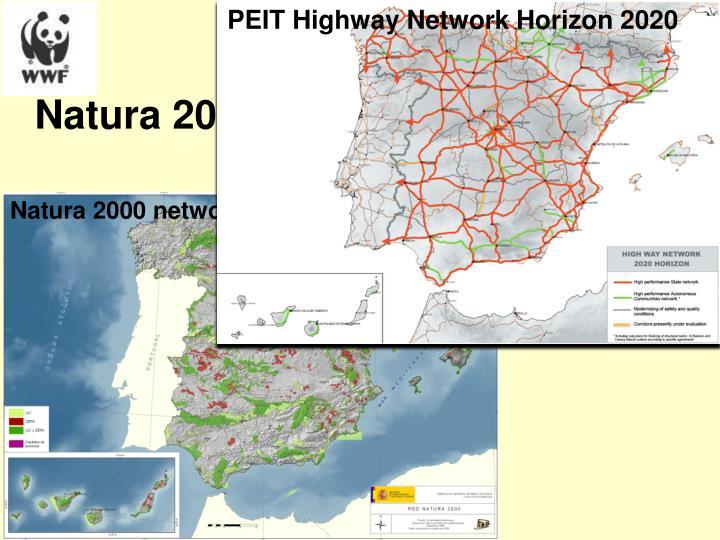 PEIT Highway Network Horizon 2020