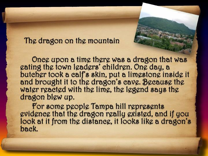 The dragon on the mountain