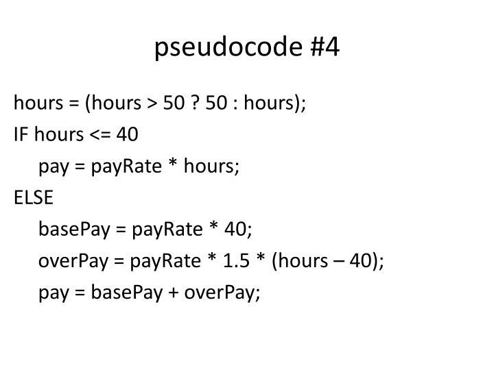 pseudocode #4