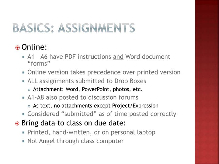Basics: Assignments