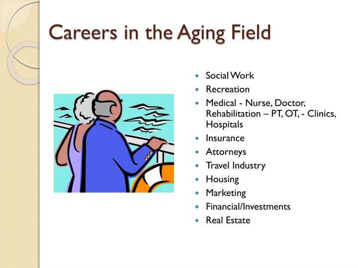 Careers in the Aging Field