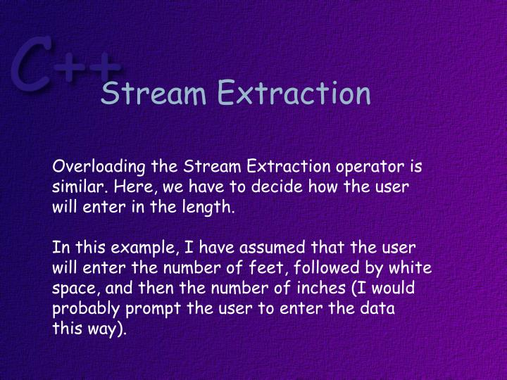 Stream Extraction