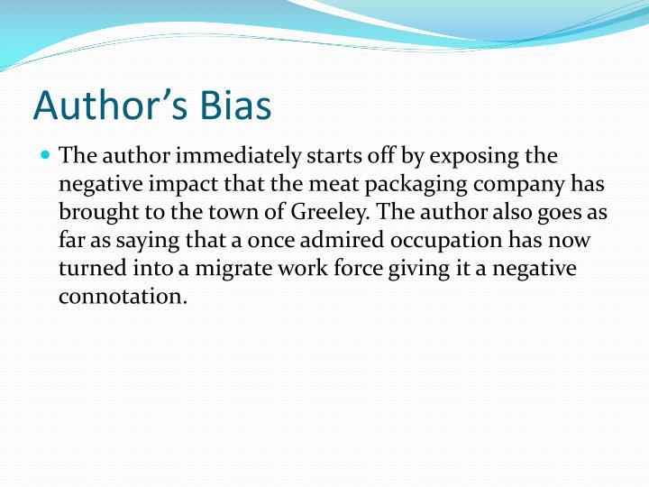 Author's Bias