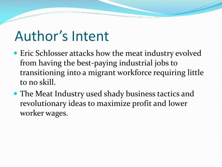 Author's Intent