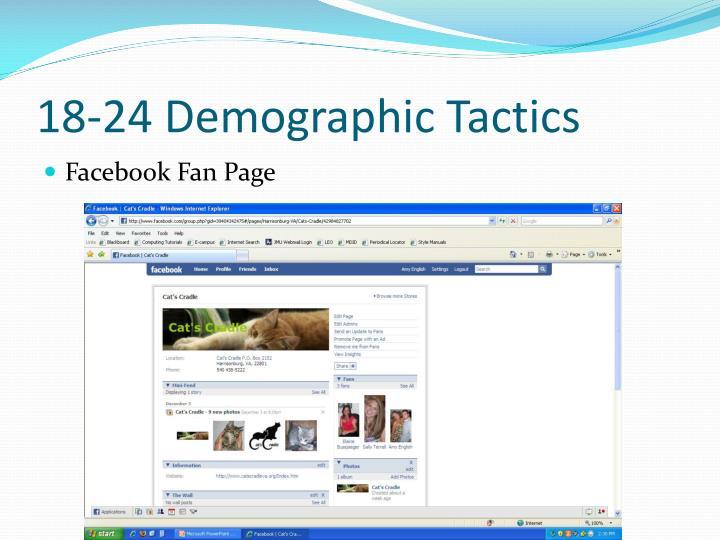 18-24 Demographic Tactics