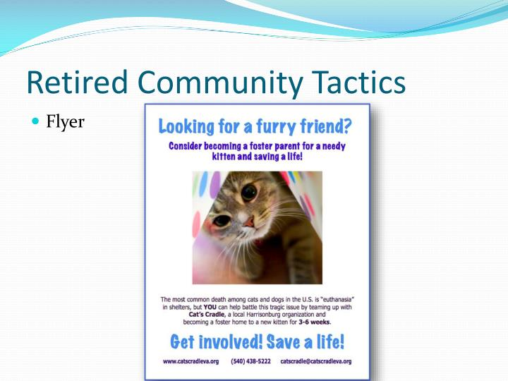 Retired Community Tactics