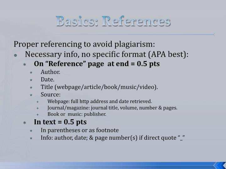 Basics: References