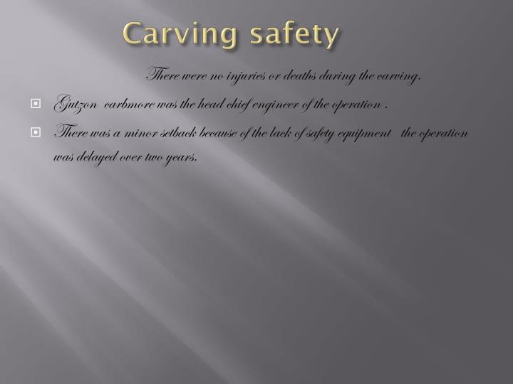 Carving safety
