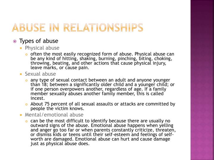 Abuse in relationships