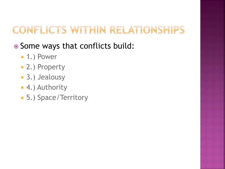 Conflicts within relationships