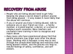 recovery from abuse