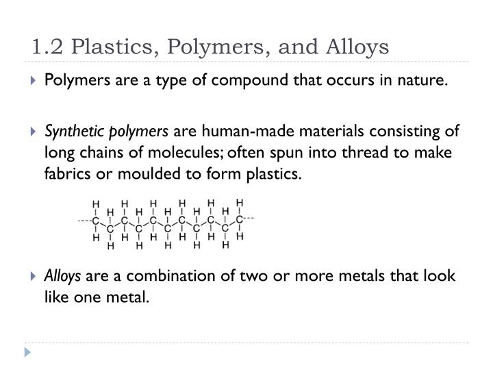 1 2 plastics polymers and alloys