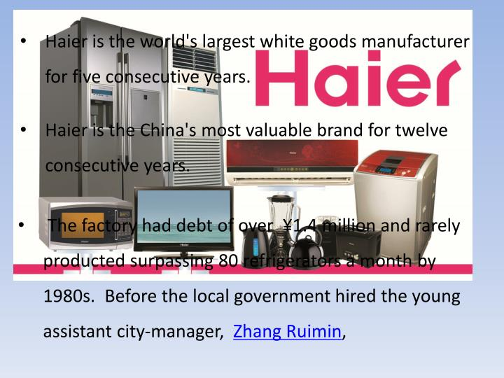 Haier is the world's