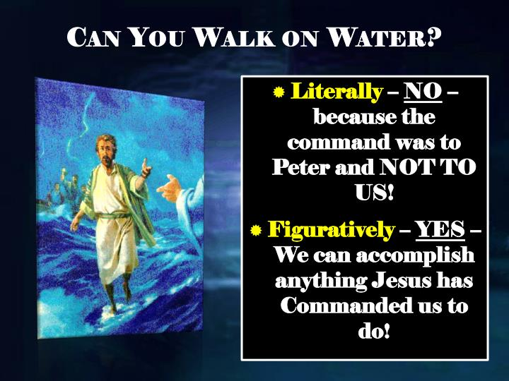 Can You Walk on Water?