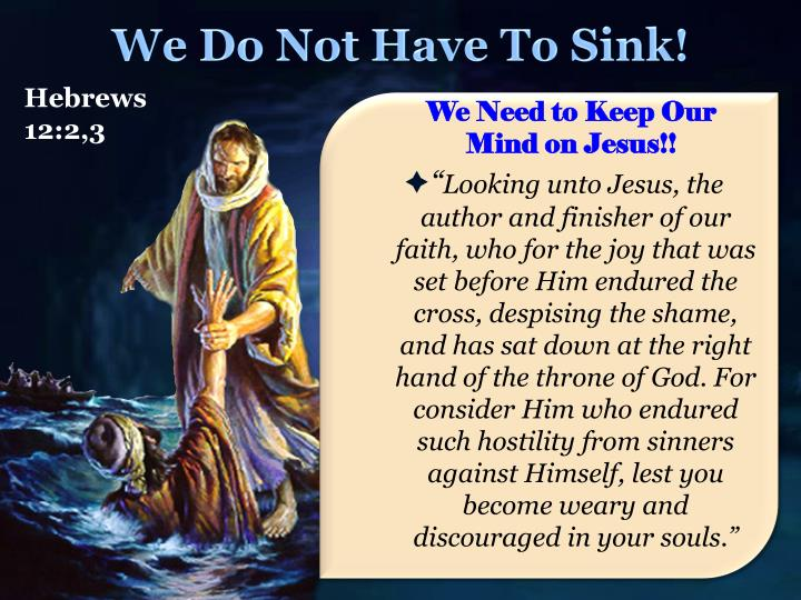 We Do Not Have To Sink!