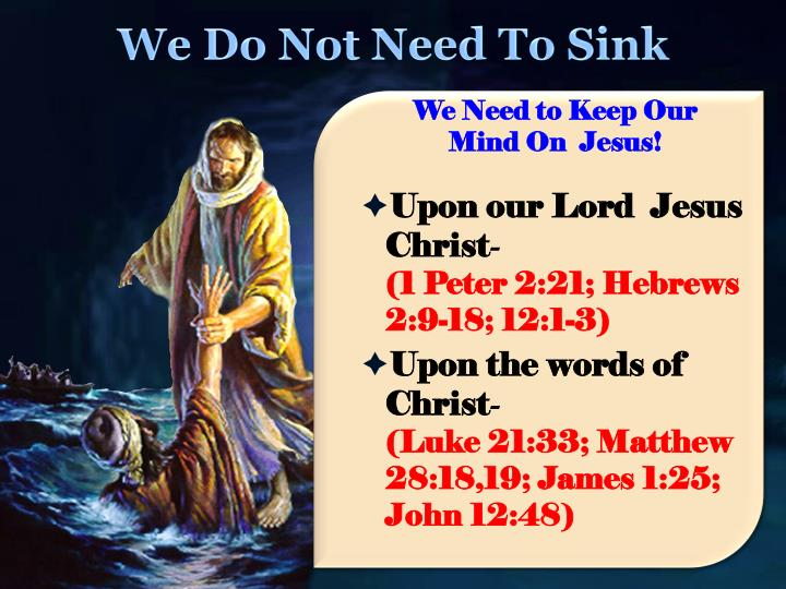 We Do Not Need To Sink