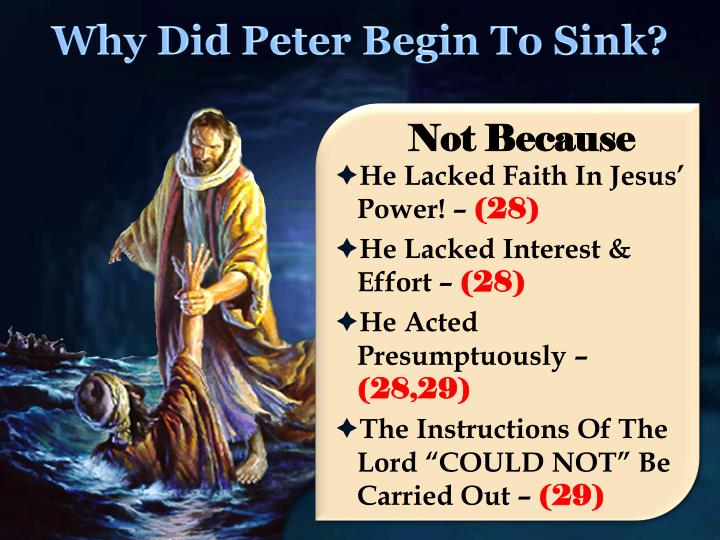Why Did Peter Begin To Sink?