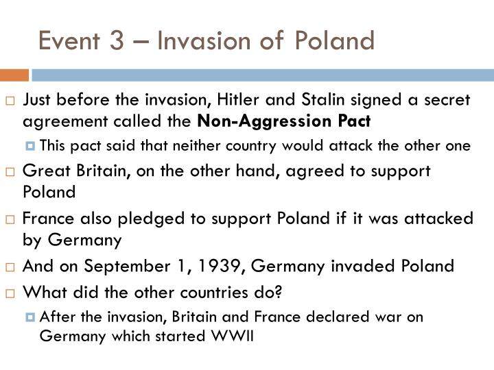 Event 3 – Invasion of Poland
