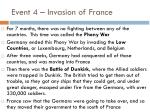 event 4 invasion of france