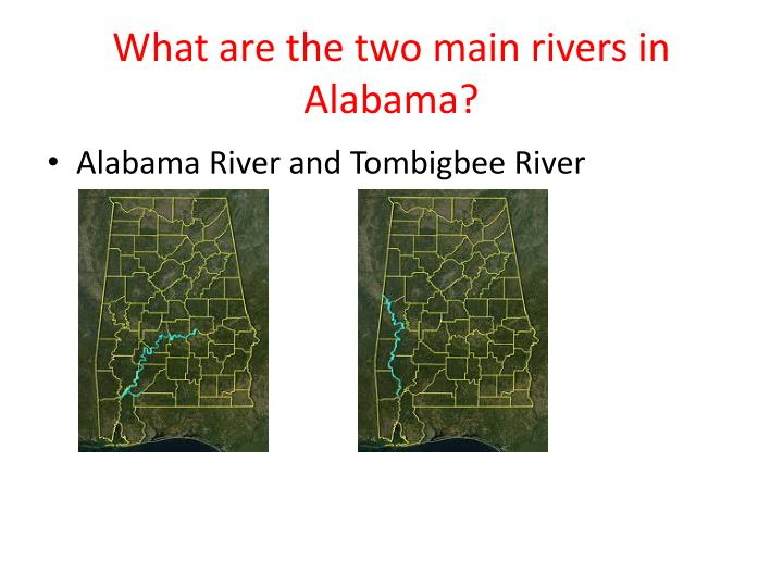 What are the two main rivers in Alabama?