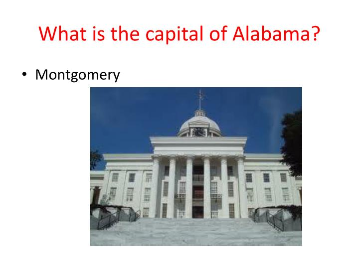 What is the capital of Alabama?