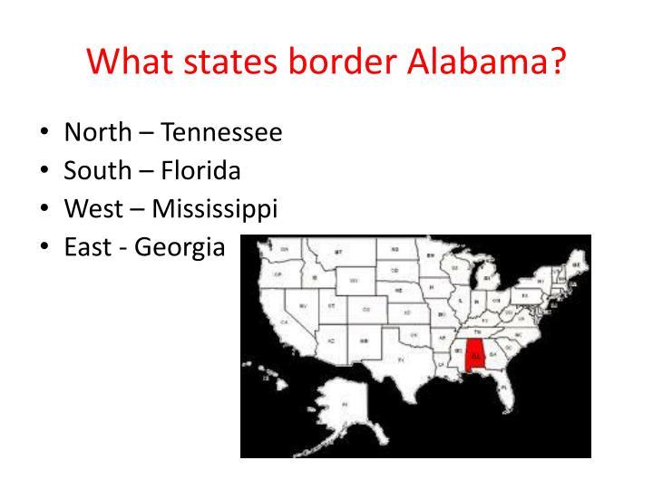 What states border Alabama?
