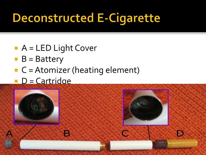 Deconstructed E-Cigarette