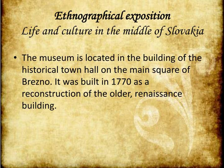 Ethnographical