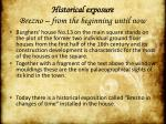 historical exposure brezno from the beginning until now