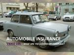 automobile insurance video 101 what are the 6 forms of coverage
