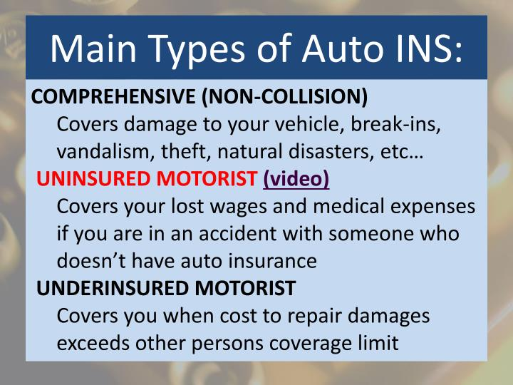 Main Types of Auto INS: