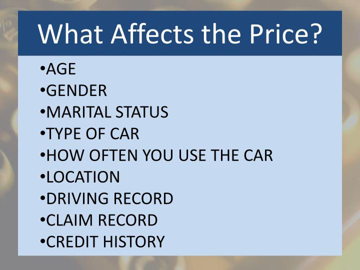 What Affects the Price?