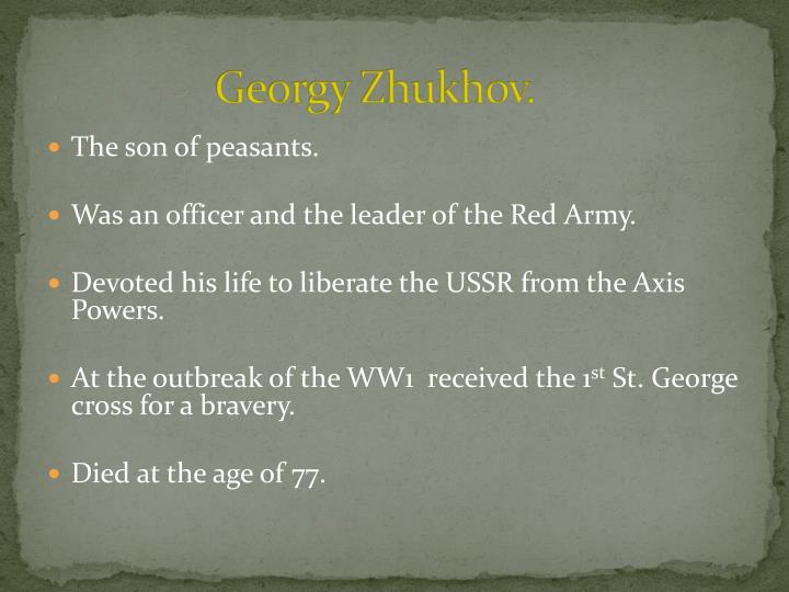 Georgy Zhukhov.