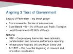 aligning 3 tiers of government
