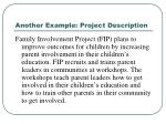 another example project description