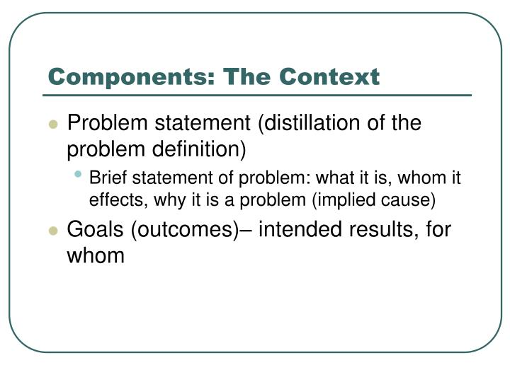 Components: The Context