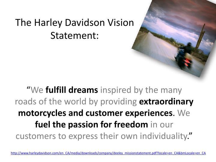 The Harley Davidson Vision