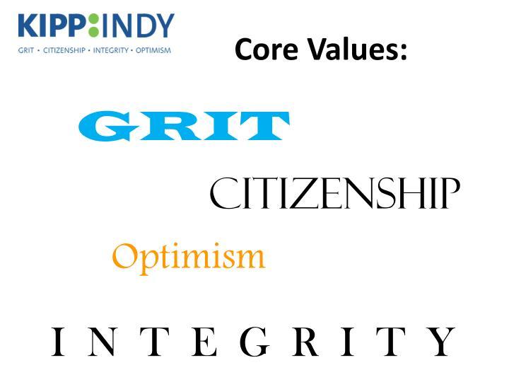 Core Values: