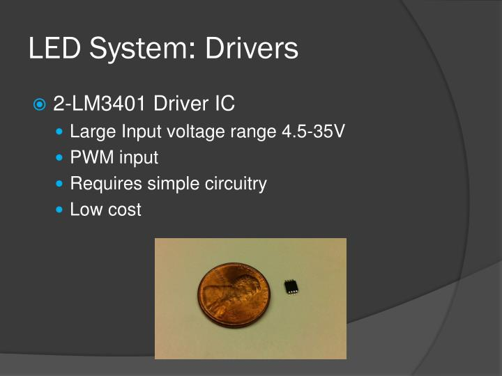 LED System: Drivers