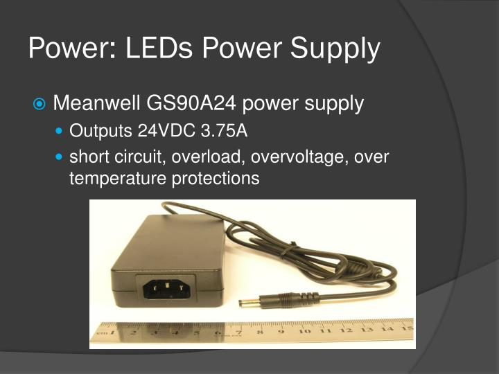 Power: LEDs Power Supply