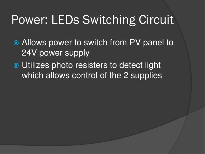 Power: LEDs Switching Circuit