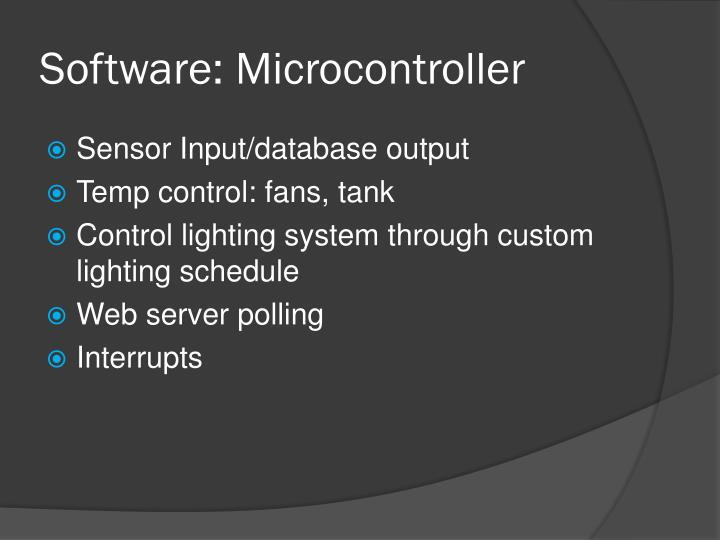 Software: Microcontroller