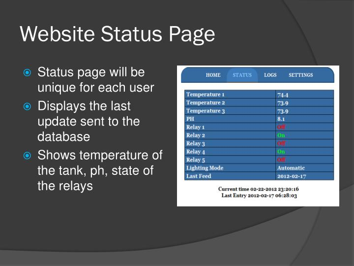 Website Status Page